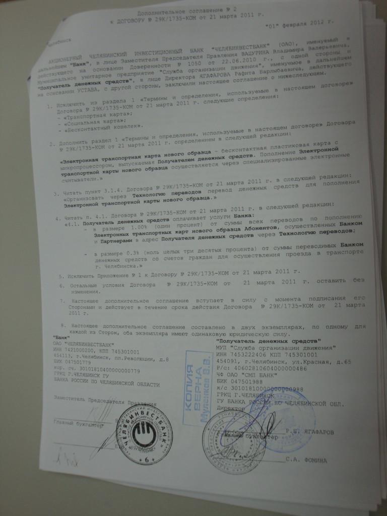 Комиссия Челябинвестбанк