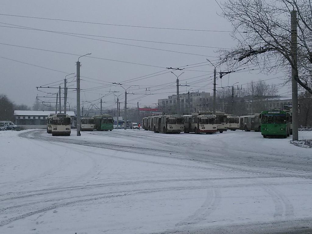Первое в мире передвижное троллейбусное депо